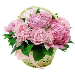 Цветы в корзинке «Корона»